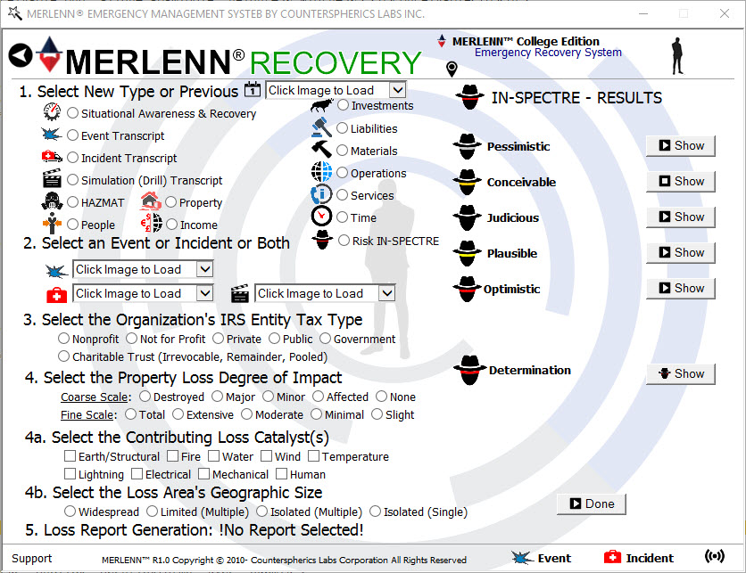 Counterspherics' MERLENN Safety Contingency, Resource Management, Logistics Management, Event Alerting, Tracking, Reporting, Compliance (OSHA)